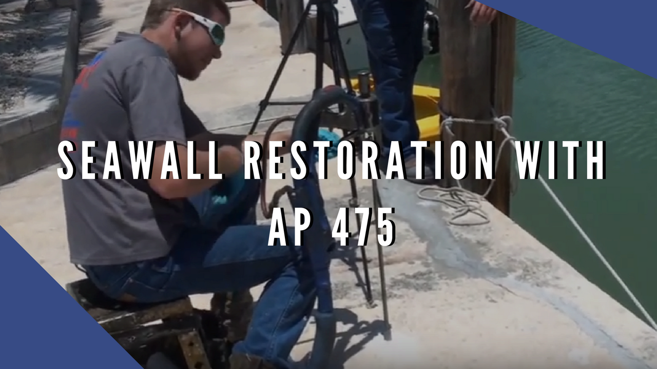 Seawall restoration with AP 475